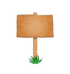 Single empty wood signboard vector