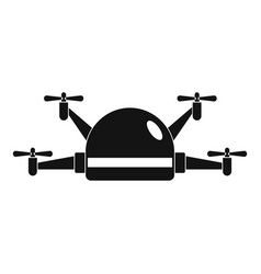 Small drone icon simple style vector