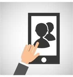 smartphone app contact social media icon vector image