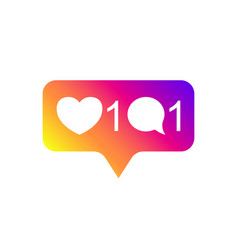 Social media instagram modern like 1 comment 1 vector