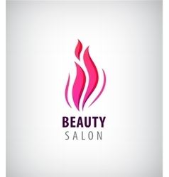 Spa and Beauty nature symbol concept vector