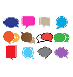 speech bubbles chat icons and speak shape vector image
