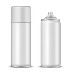 spray bottles mockup realistic vector image
