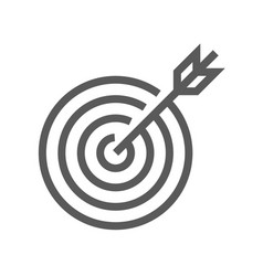 target line icon vector image