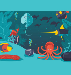 underwater world sea vector image