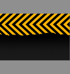 Yellow and black arrow stripes background design vector