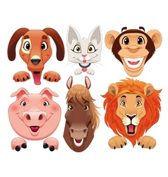 Animals portrait vector image vector image