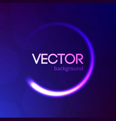 blue abstract background with bokeh and glitter vector image