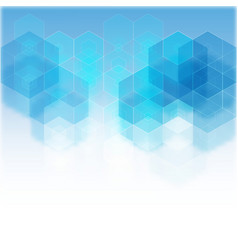 blue geometric background with place for text vector image vector image