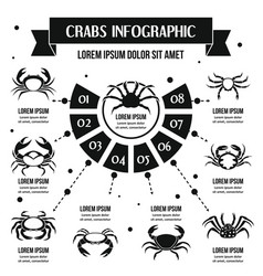 crabs infographic concept simple style vector image