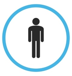Man Flat Rounded Icon vector image vector image