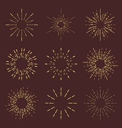 Set of Retro Sun burst shapes for your next vector image vector image