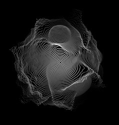 abstract white mesh on dark vector image