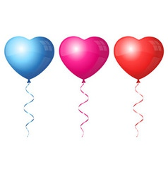 Colorful heart balloons vector image