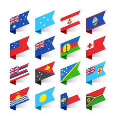 flags of the world oceania vector image vector image