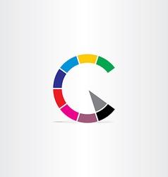 letter c color copyright symbol vector image