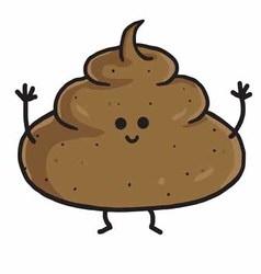Poop Cute Cartoon vector image