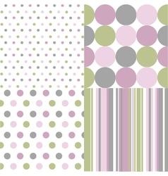 seamless patterns polka dots vector image vector image