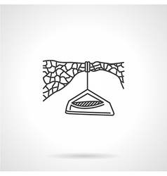 Flat line icon for hanging camp vector image vector image