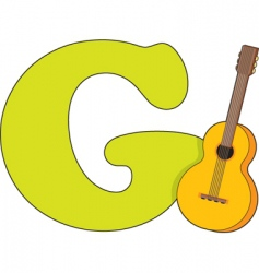 g for guitar vector image vector image
