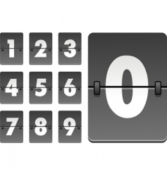 analog clock numbers vector image