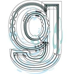 Font letter g vector image