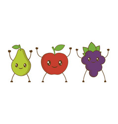 fruits cartoon icon vector image vector image