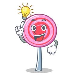 have an idea cute lollipop character cartoon vector image vector image