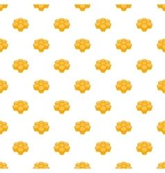 Honeycomb pattern cartoon style vector image