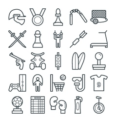Sports Cool Icons 4 vector image vector image