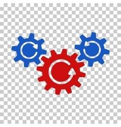 Transmission Wheels Rotation Icon vector image