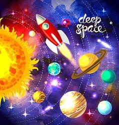 watercolor space vector image vector image