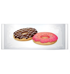 A pack of doughnuts vector image