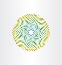abstract background circle with green dots vector image