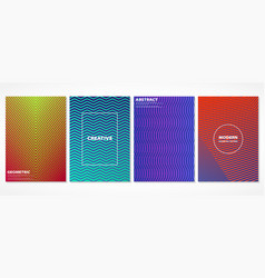 abstract colorful minimal geometric covers vector image