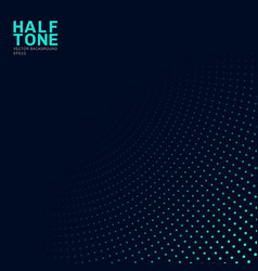 Abstract green neon color halftone pattern on vector