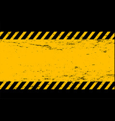 abstract grunge style yellow and black empty vector image