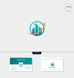 Accounting finance chart or real estate apartment vector