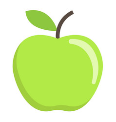 apple flat icon fruit and diet graphics vector image