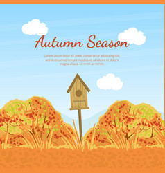 autumn season banner template with fall trees vector image