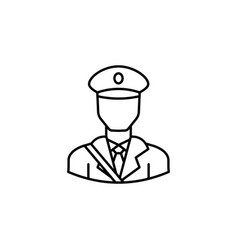 avatar postman outline icon signs and symbols can vector image