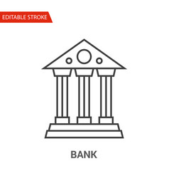 bank icon thin line vector image