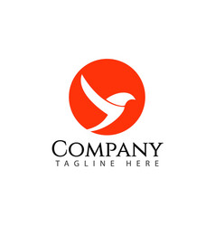 Bird company logo template design vector