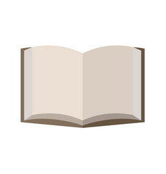 blank page open book vector image