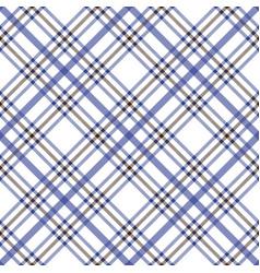 blue brown argyle plaid pattern vector image