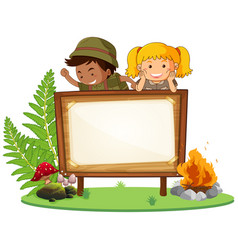 Boy and girl scout banner vector