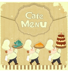 Cafe Menu Card in Retro style vector