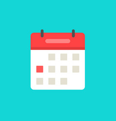calendar or agenda icon flat cartoon vector image