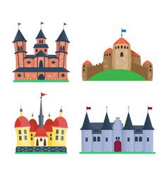 Cartoon castle architecture vector