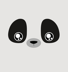 Cartoon panda background vector
